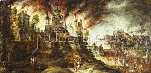 Kerstiaen de Keuninck: Die Zerstörung von Sodom und Gomorrha.