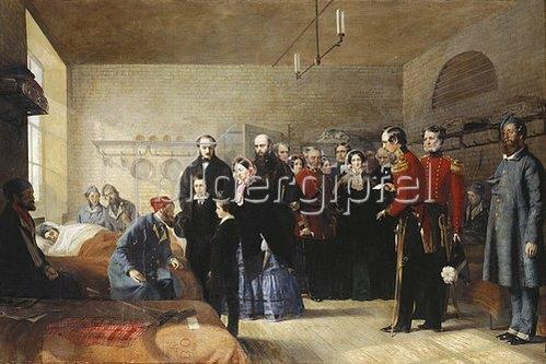 Jerry Barrett: Der erste Besuch Königin Victoria's bei ihren verwundeten Soldaten.