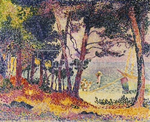 Henri Edmond Cross: Unter Pinien (Provence).