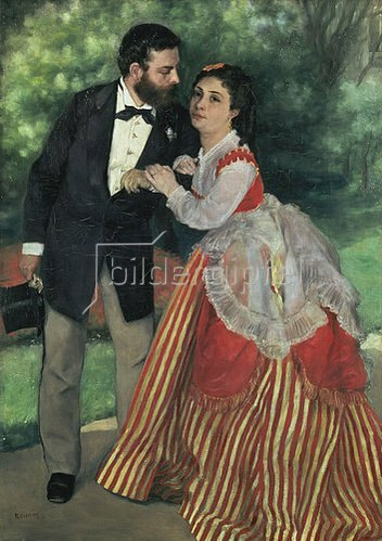 Auguste Renoir: Das Ehepaar Alfred Sisley. 1868