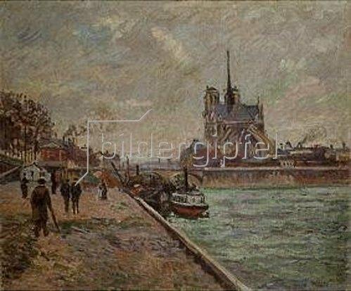 Jean-Baptiste Armand Guillaumin: Seinequai in Paris mit Blick auf Notre-Dame.