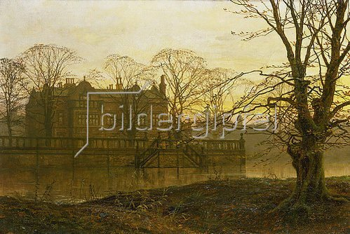 Louis H Grimshaw: Englisches Landhaus im Herbstdunst.