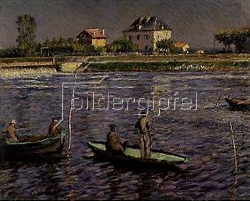 Gustave Caillebotte: Fischerboote auf der Seine. 1888.