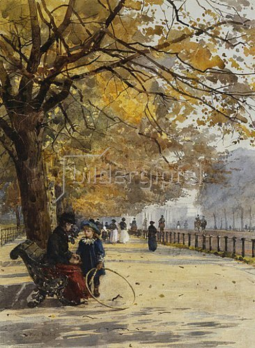 Rose Maynard Barton: Herbstliche Allee.