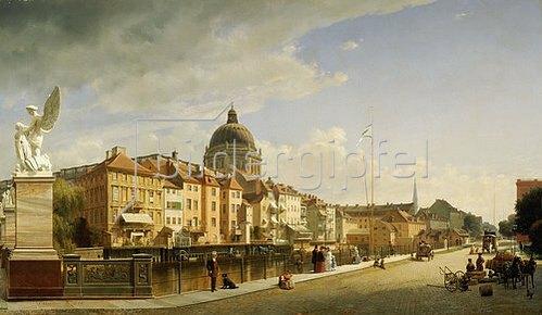 Johann Philipp Eduard Gaertner: Berlin, Schlossfreiheit von der Schlossbrücke gesehen. 1855