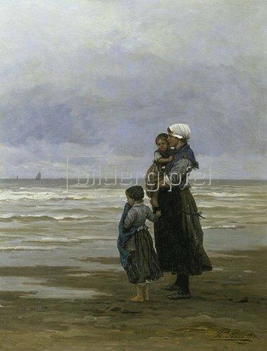 Philip Lodewijk F Sadée: In Erwartung des Fischerbootes.