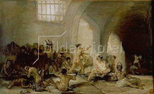 Francisco José de Goya: Das Irrenhaus. Um 1812/19
