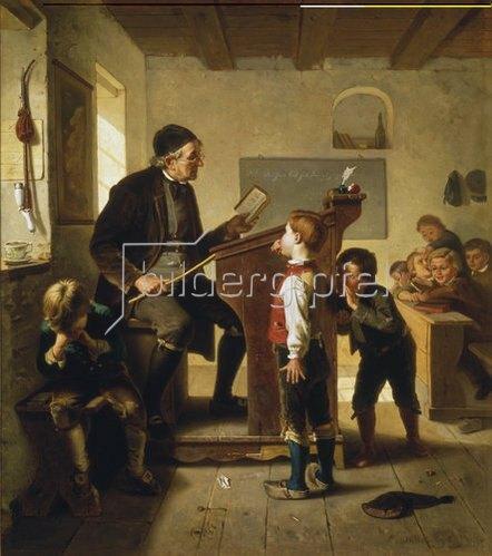 Julius Geerts: Schulstunde. 1880.