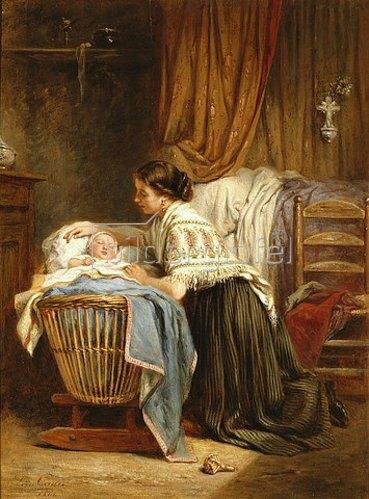 Léon-Emile Caille: An der Wiege. 1866