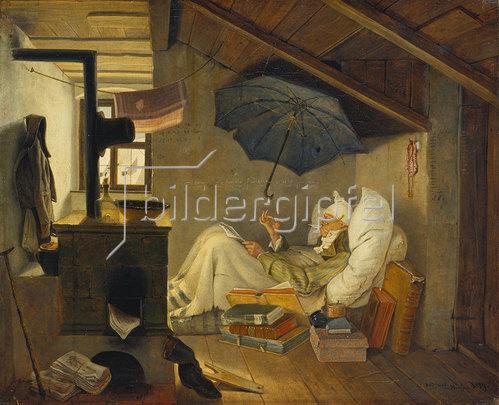 Carl Spitzweg: Der arme Poet. 1839