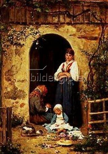 Adolf Echtler: Mussestunde. 1880.