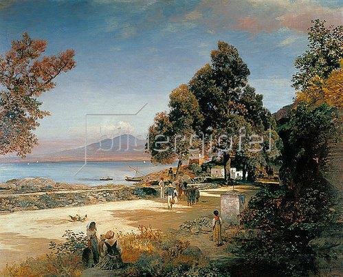 Oswald Achenbach: Golf von Neapel. 1885.