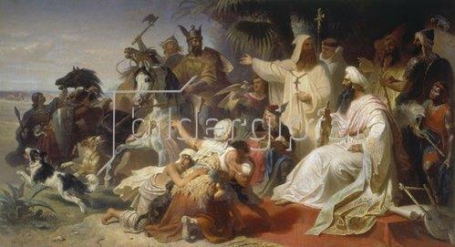 Julius Köckert: Harun al Raschid empfängt die Gesandten Karls des Grossen.