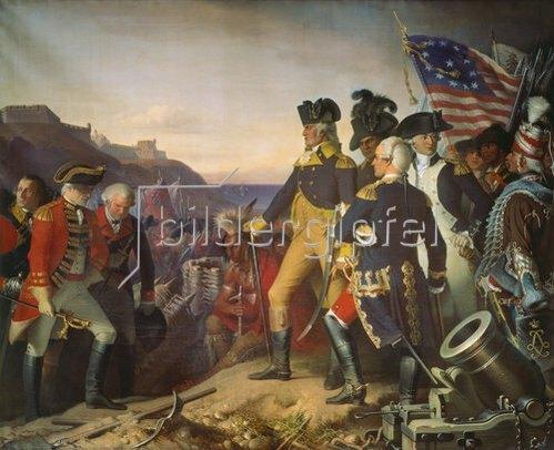 Eugen Hess: Übergabe der Festung Yorktown an Washington, 1781.