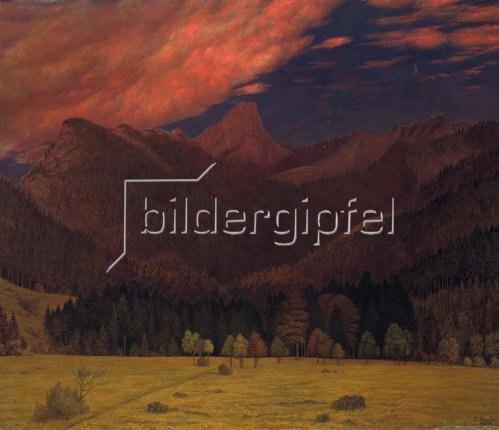 Karl Haider: Das Ostertal mit dem Kienberghorn. 1897.