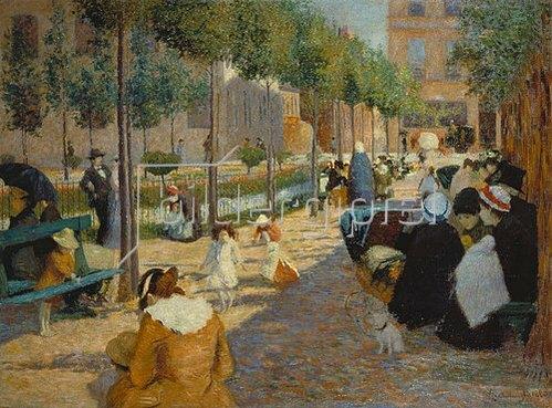 Federico Zandomeneghi: Place d'Anvers in Paris. 1880.