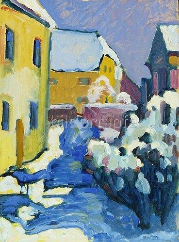 Wassily Kandinsky: Friedhof und Pfarrhaus in Kochel. 1909