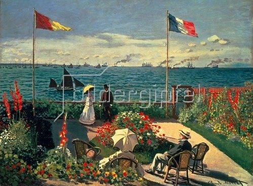 Claude Monet: Die Terrasse am Meeresufer von Sainte-Adresse. 1867