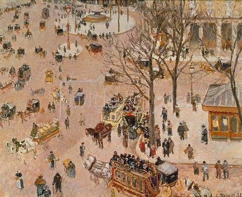 Camille Pissarro: Paris, Place du Theatre. 1898