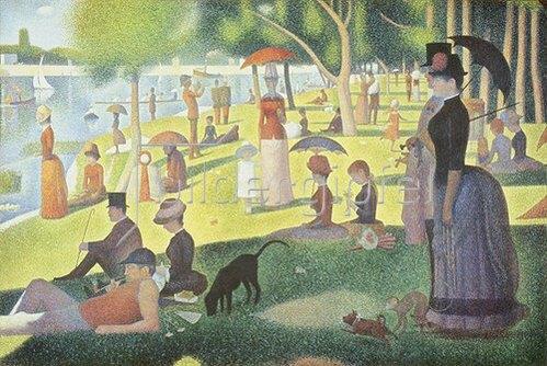 Georges Seurat: Ein Sonntagnachmittag auf der Insel La Grande Jatte. 1884-86