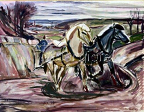Edvard Munch: Pflüger im Frühling. 1916.