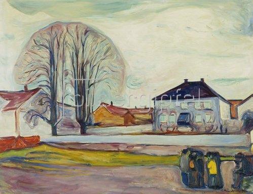 Edvard Munch: Das Haus am Strand. 1905.