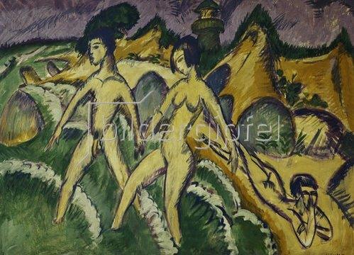 Ernst Ludwig Kirchner: Ins Meer Schreitende. 1912