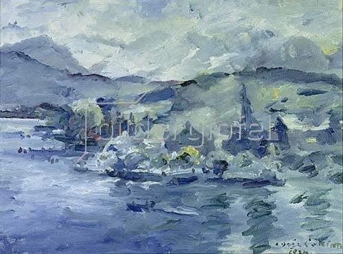 Lovis Corinth: Luzerner See am Nachmittag. 1924.