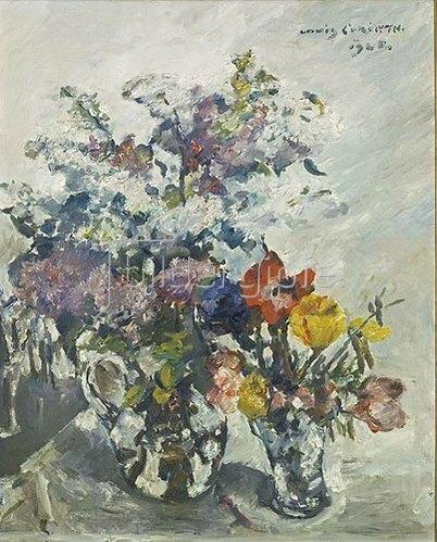 Lovis Corinth: Flieder, Anemonen und Kätzchen. 1925.