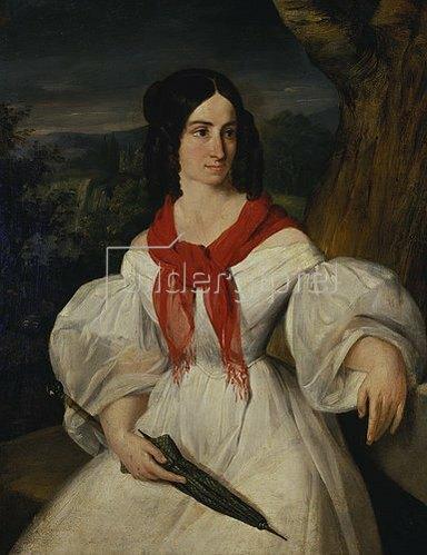 Moritz von Schwind: Bildnis Therese Hönig. 1836.