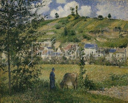 Camille Pissarro: Landschaft um Chaponval. 1880