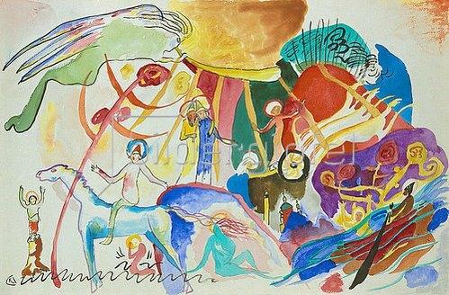 Wassily Kandinsky: Komposition mit Heiligen. 1911.