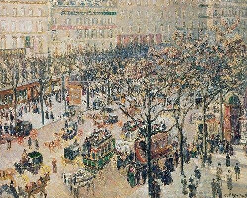 Camille Pissarro: Der Boulevard des Italiens im Morgenlicht. 1897