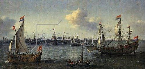 Hendrik Cornelisz Vroom: Der Hafen von Amsterdam. 1630