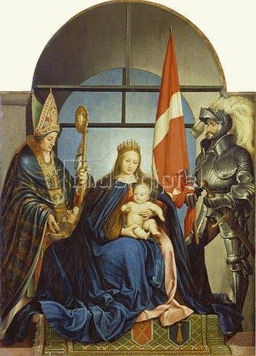 Hans Holbein d.J.: Altarbild des Stadtschreibers Gerster (sogen.Solothurner Madonna). 1522.