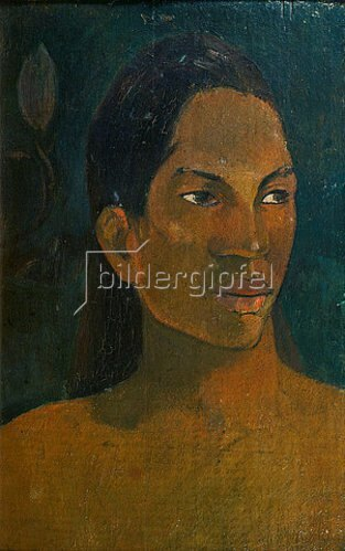 Paul Gauguin: Kopf einer Tahitianerin. Um 1891