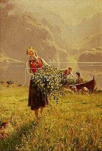 Hans Dahl: Frühling im Fjord.