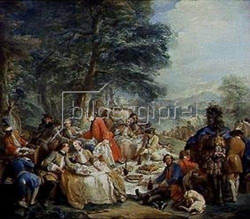 Charles André van Loo: Rast bei der Jagd. 1737.