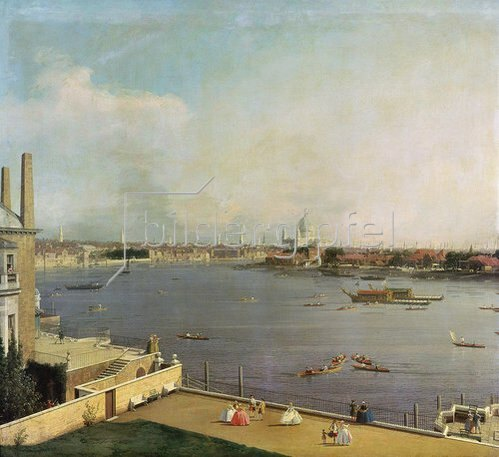 Canaletto (Giov.Antonio Canal): London, Themse und City von Richmond House aus gesehen. 1746/1747.