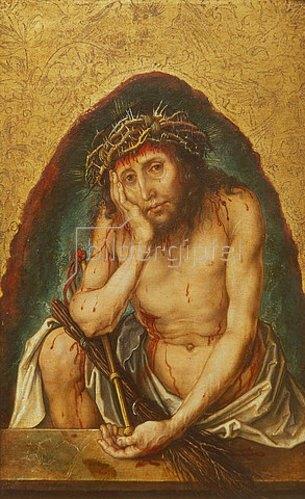 Albrecht Dürer: Christus als Schmerzensmann. Um 1493