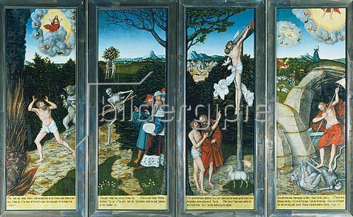 Lucas Cranach d.Ä.: Flügelaltar in St.Wolfgang in Schneeberg (Erzgebirge): Erste Ansicht.