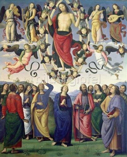 Perugino (Pietro Vanucci): Die Himmelfahrt Christi. 1495-98