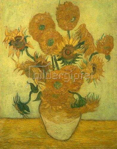 Vincent van Gogh: Vierzehn Sonnenblumen in einer Vase. 1889.