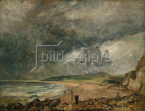 John Constable: Die Bucht von Weymouth bei herannahendem Sturm.