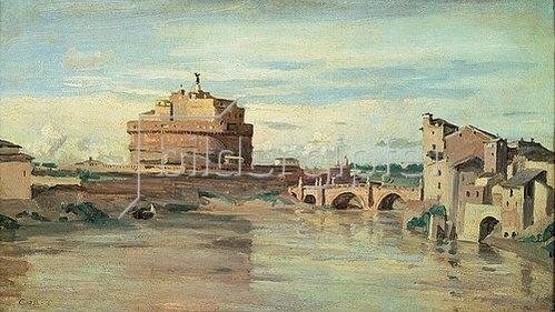 Jean-Baptiste Camille Corot: Rom, Tiber und Engelsburg.