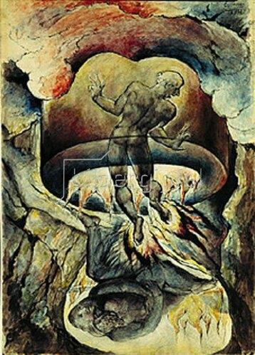William Blake: Gesang der Hölle. Aus der Zeichenfolge zu Dantes göttlicher Komödie.