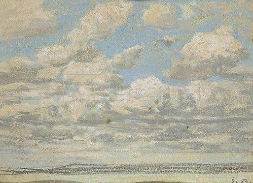 Eugène Boudin: Blauer Himmel, weisse Wolken.
