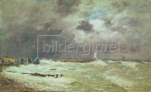 Eugène Boudin: Sturm an der Küste bei Le Havre. 1896.