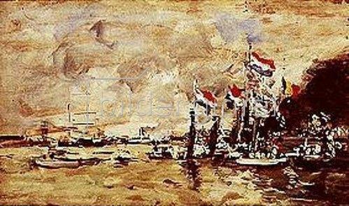 Eugène Boudin: Vor der Regatta. Antwerpen.