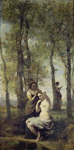 Jean-Baptiste Camille Corot: Die Toilette im Walde.